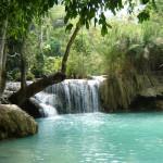 73. Laos.excursie naar Kuangsi Watervallen