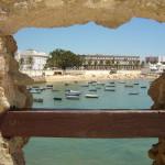 Cadiz haven vanaf het fort