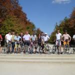 Madrid groep Joost en Roel op de fiets